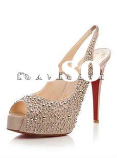 New style 2012 spring summer latest design pretty ladies high heel shoes