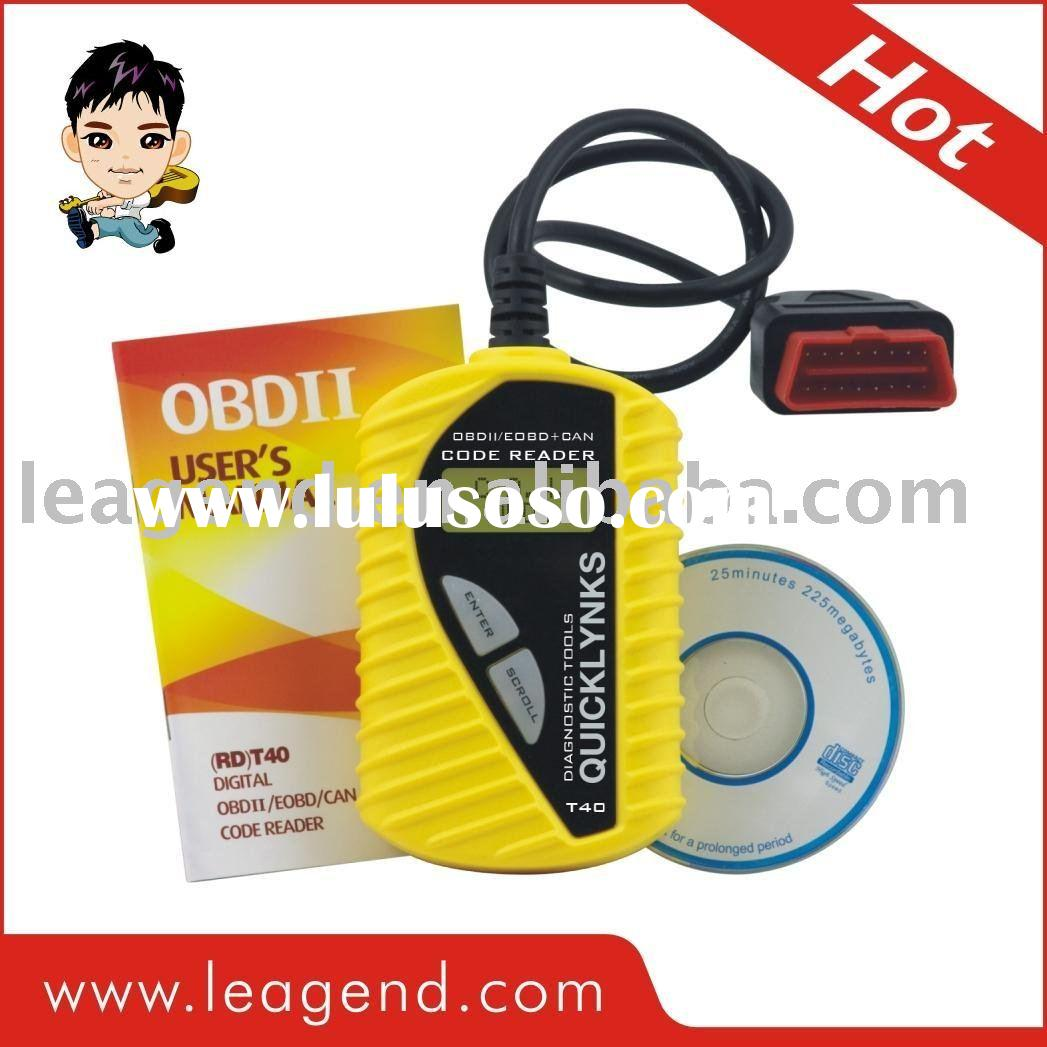 OBD2 car/auto code reader &code scanner T40(yellow)