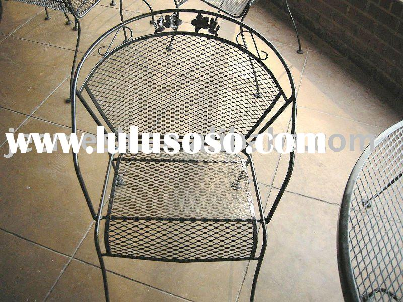 Outdoor furniture by expanded metal mesh