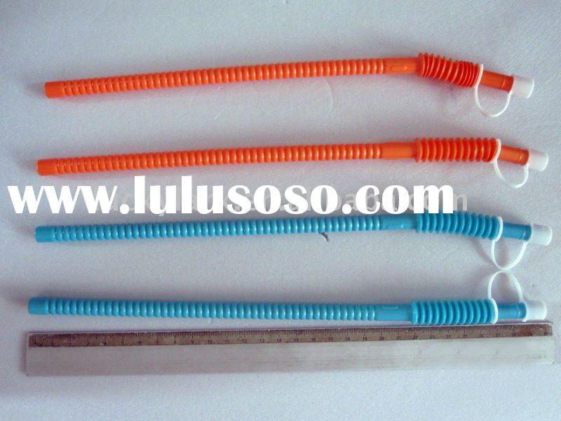 Plastic Flexible Drinking straw with cap