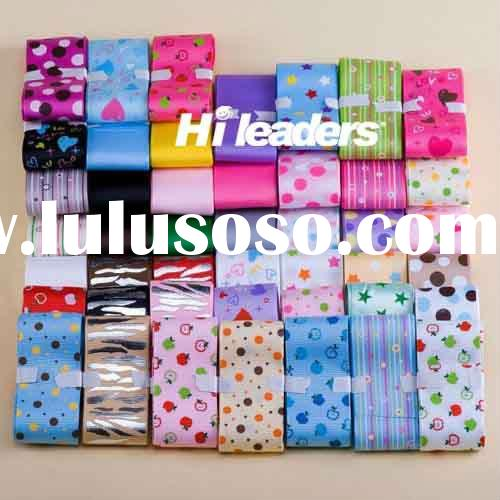 Polyester Printed Grosgrain and Satin Ribbon