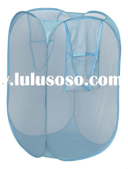 Pop up Mesh polyester Laundry Basket Collapsible Laundry Bag