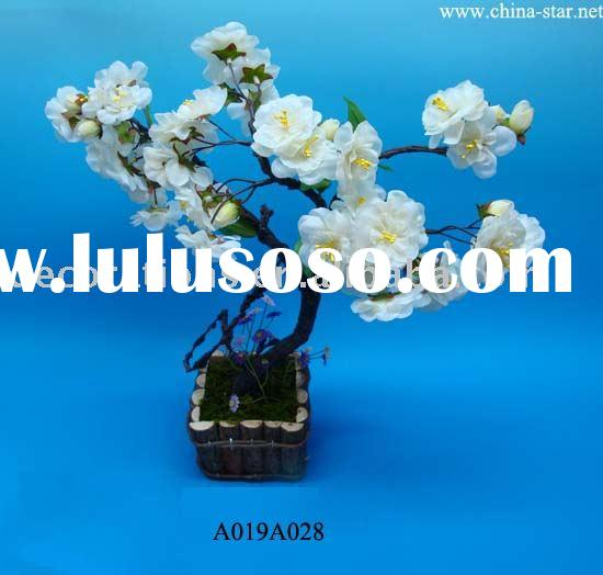 Potted Cherry Blossom - Artificial Flower
