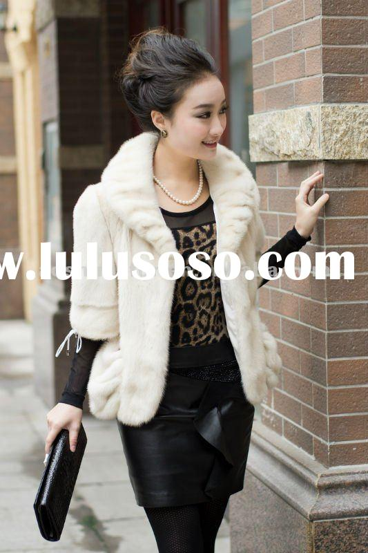 White Coats For Women Women Mink Fur Coat,half