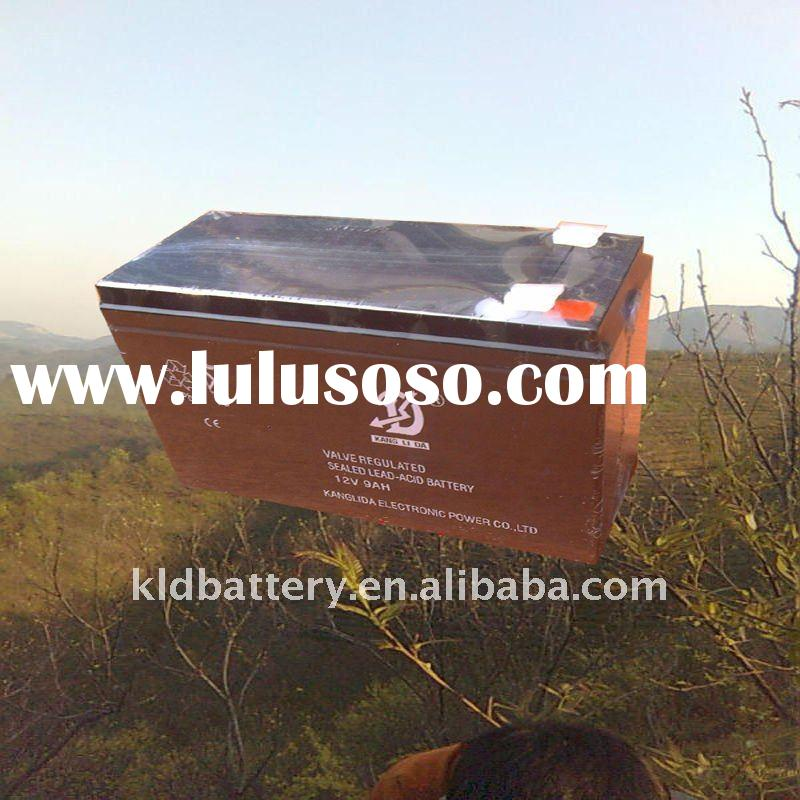 Rechargeable lead acid solar battery 12v9ah