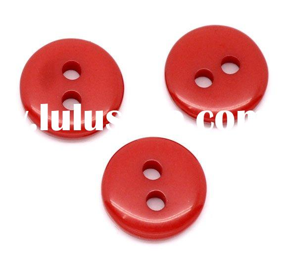 Red Acrylic Sewing Buttons Scrapbooking 9mm