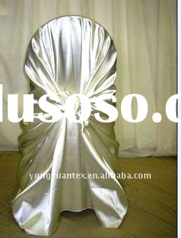 Self Tie Satin Chair Cover for wedding/pillowcase chair cover/universal chair cover/self-tie satin c