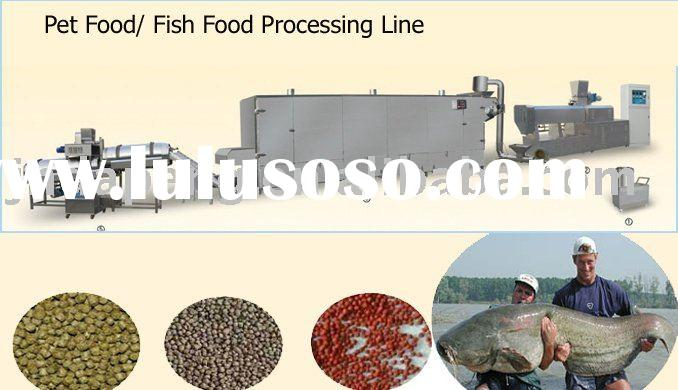 Series of pet food/fish feed processing line