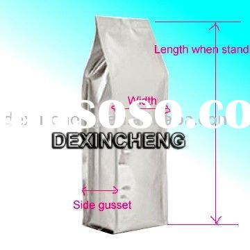 Side Gusset Foil Coffee Bag With Valve