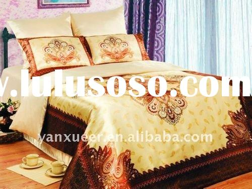 Silk Bed Sheet Set/cheap bed sheet set