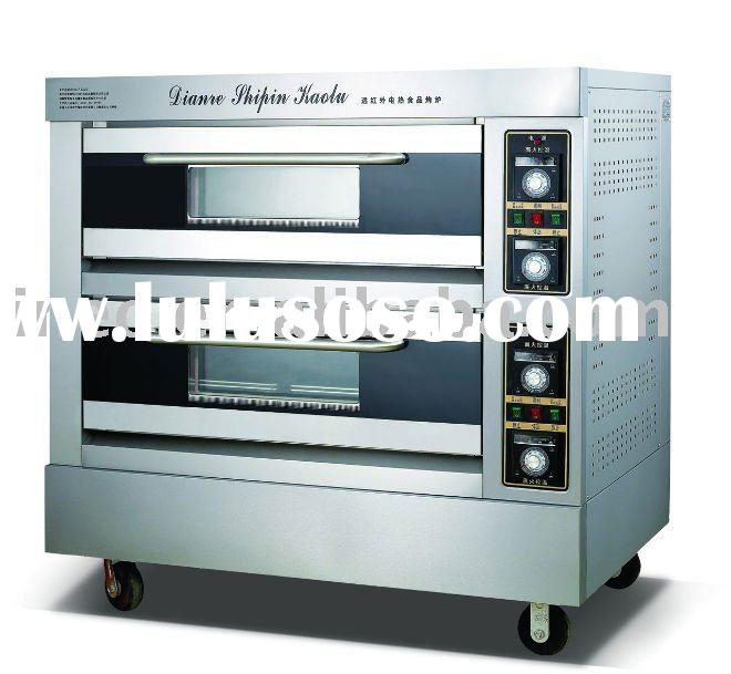 Single Full-automatic Electric Deck Oven/Baking Oven/ 2 decks 4 trays/Food Machines/Food Machinery