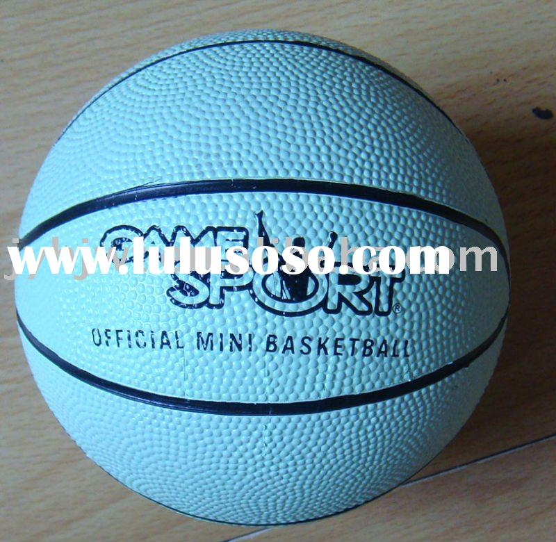 Size 1 rubber basketball