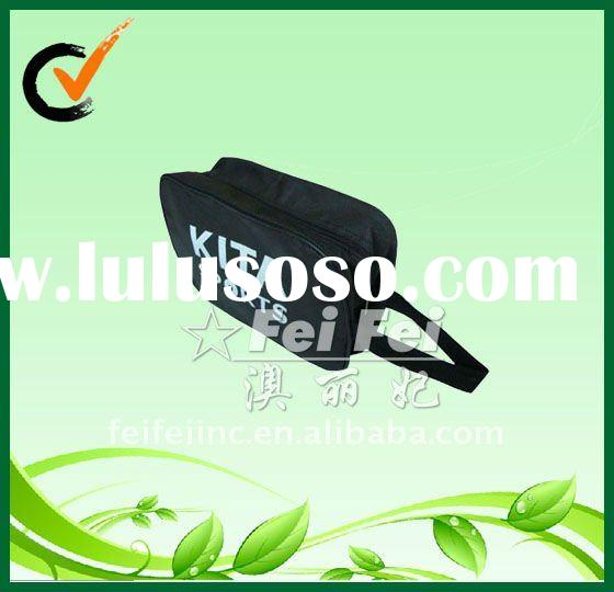 Soccer shoe dustbag with zipper and handle PP nonwoven shoe bags