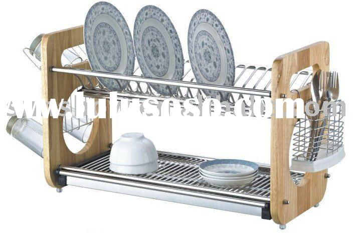 Square-shape stainless steel dish drainer rack
