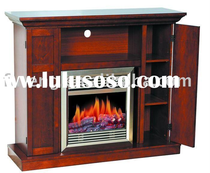 Stainless Steel Electric Fireplace TV Stand
