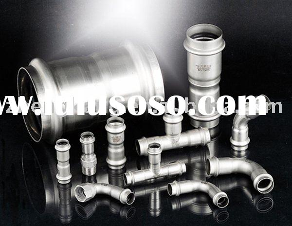 Stainless steel/galvanized carbon steel press fittings V TYPE