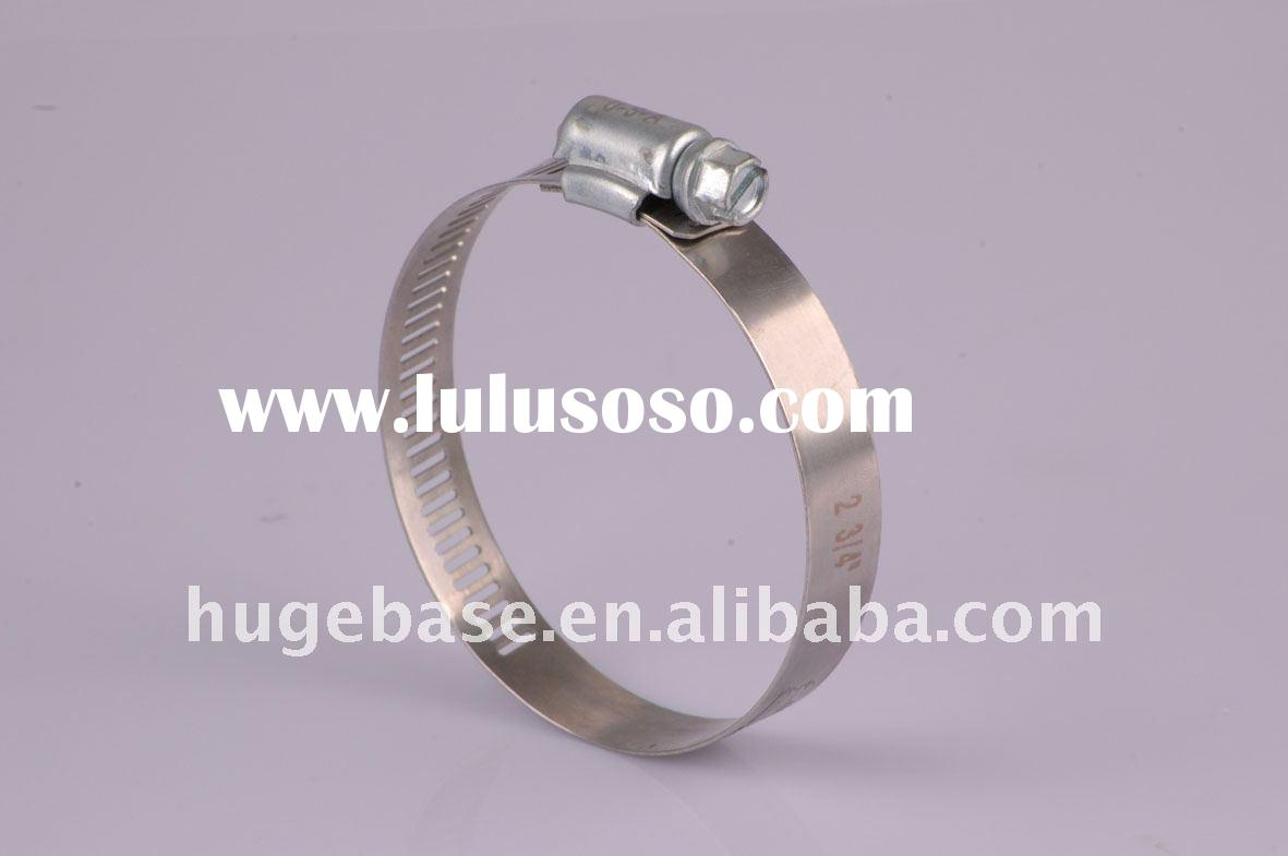 Stainless steel worm gear hose clamp/brackets/ 12.7mm or 14.2mm bandwidth