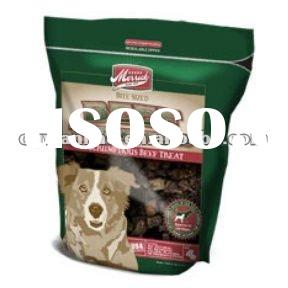 Stand up Pet food packaging bags with zipper line