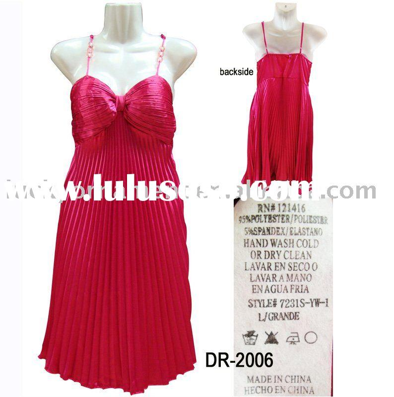 Stock lady's evening dress/dress stocklots(DR-2006)