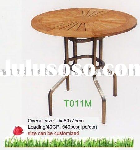 T011M coffee table,stainless steel teak tea table,outdoor,modern,pool sets,garden furniture