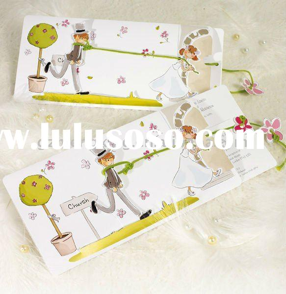 Detailed Product Description elegant wedding cards with decoration