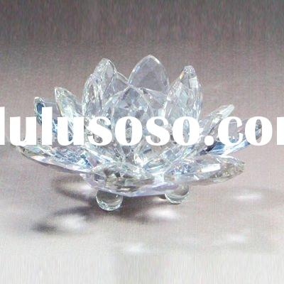 Transparent Optical Crystal Lotus Flower Gifts Wedding Favors