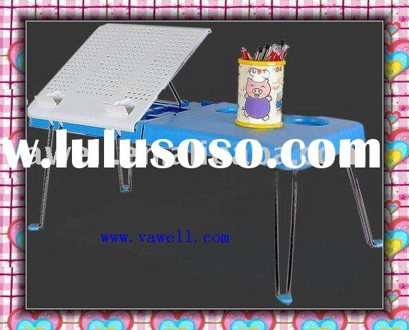 USB laptop table for cooling with fans