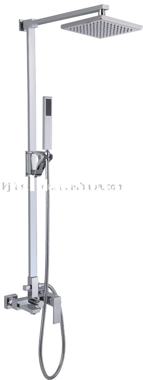 Wall mounted chrome plating shower set