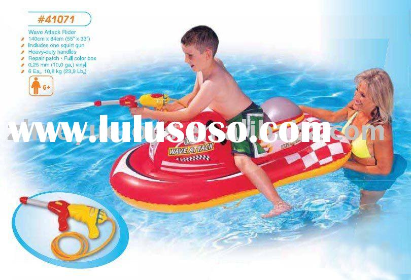 Water Inflatable Wave Attack Rider with squirt gun