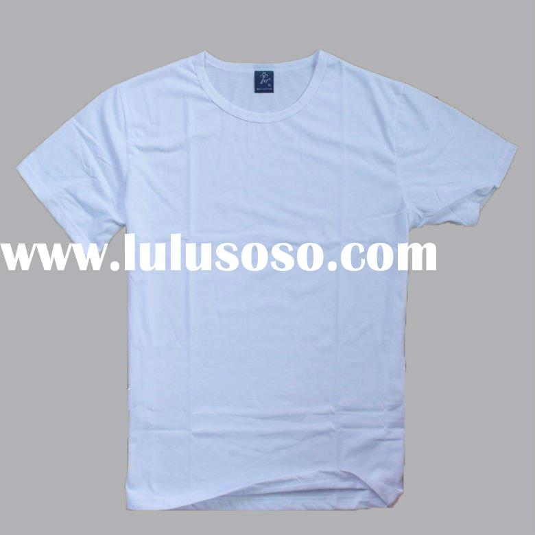 Wholesale pure cotton white blank 160gsm men's t shirt,o-neck men's T shirt