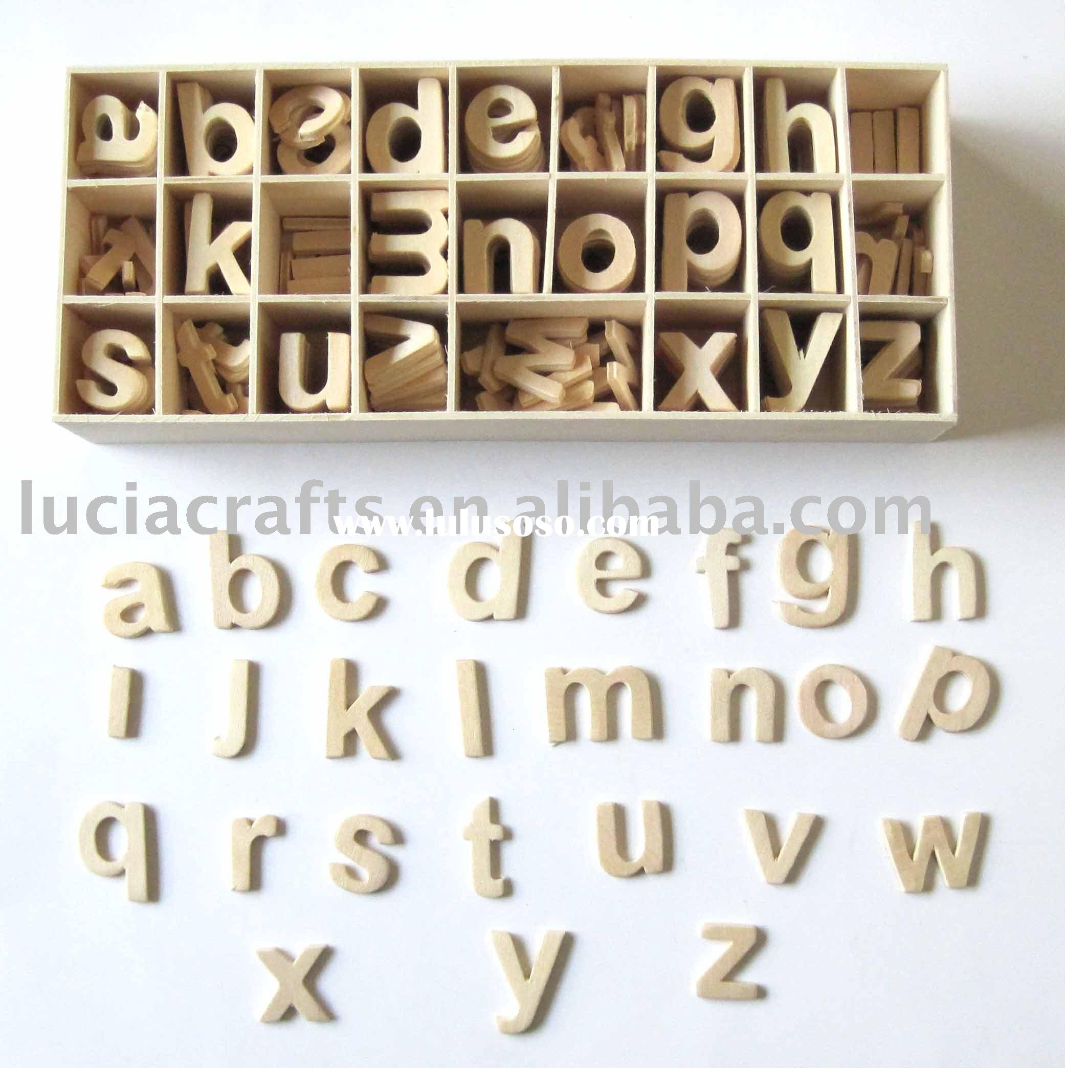Wooden letters box wood letter wooden alphabet letters