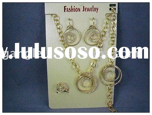 Yellow gold Fashion hot selling alloy jewelry setGL-FFJS-57