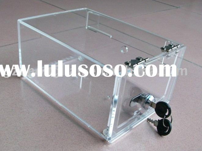 acrylic collection box/acrylic suggestion case/plexiglass display case/perspex stands