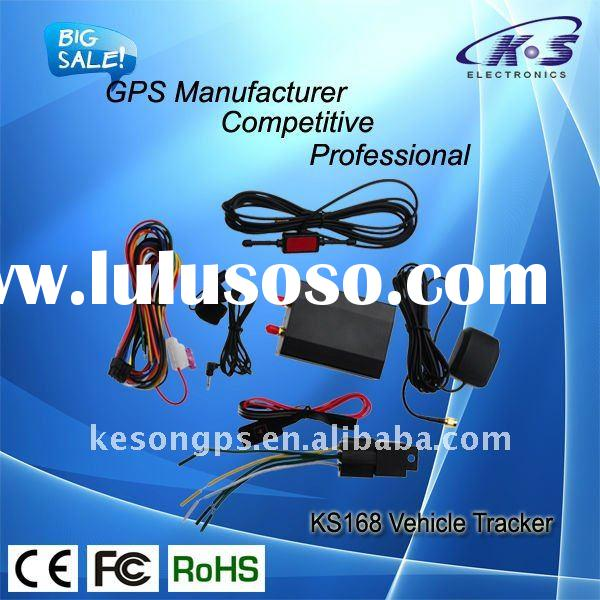 advanced GPS tracker car KS168 VTS with fuel and temperature detetor mobilephone monitoring and web