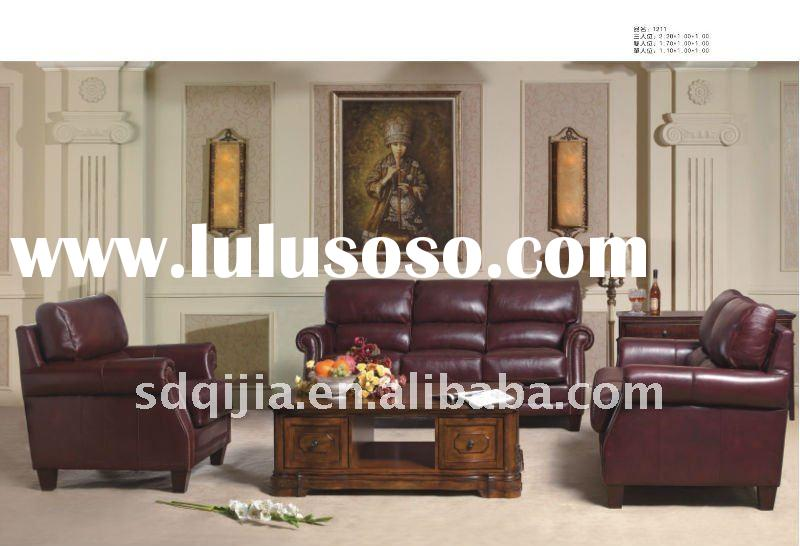 american style furniture genuine leather sofa living room sets