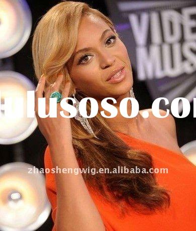 beyonce new hair style #27 mix #613 color brazilian human hair lace wigs