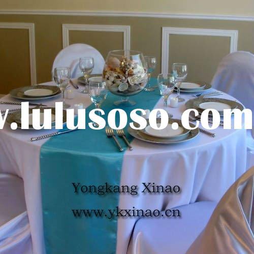 blue table runners for wedding decoration (X-4406)