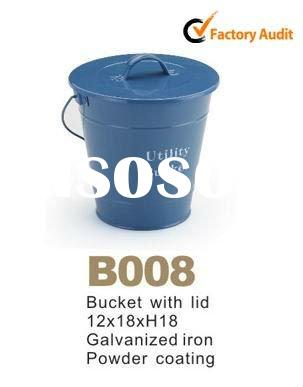 color galvanized bucket with lid with handle