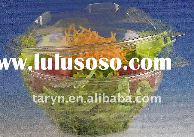 disposable plastic food container with lid