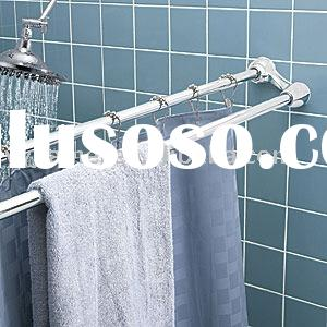 double extensible shower curtain rod and towel bar