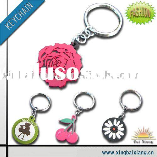fashion promotion soft pvc Key Chain, key tag, key ring