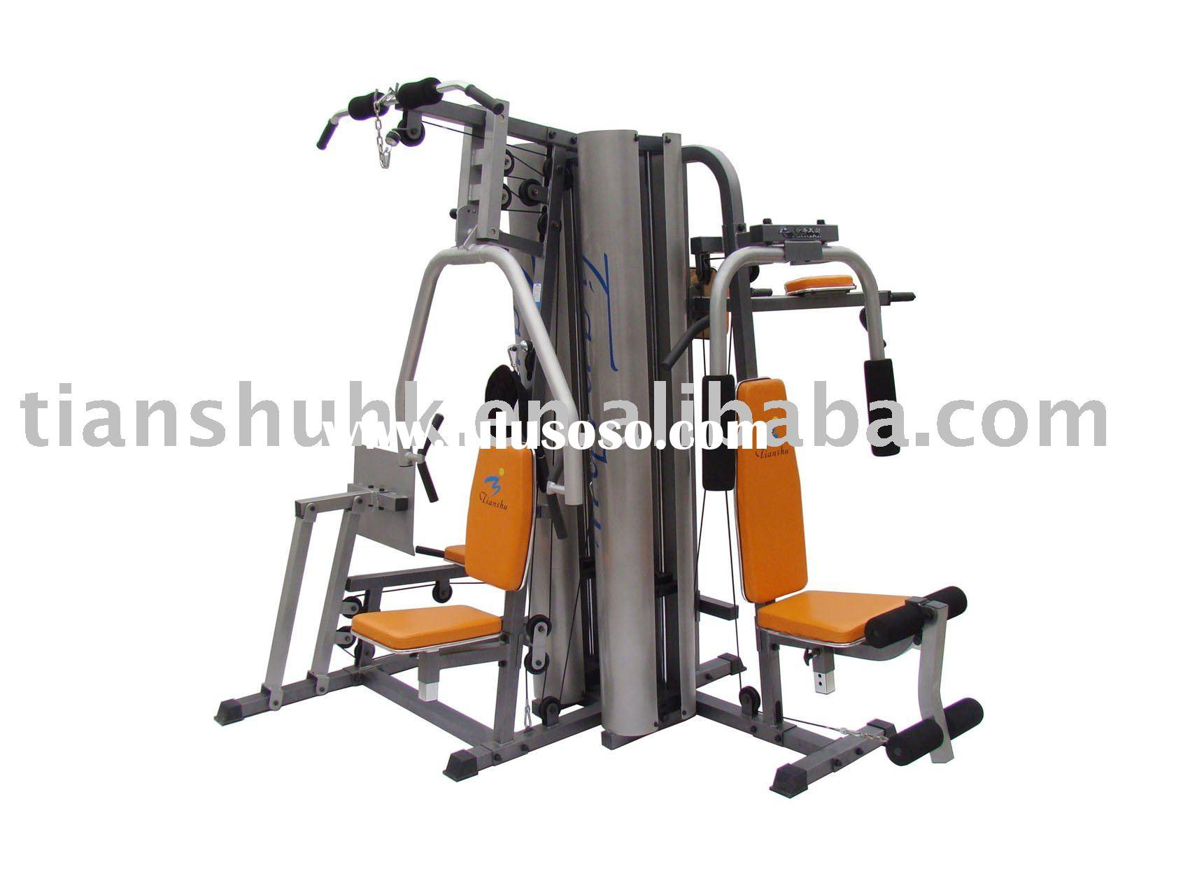 fitness gym equipment 5-station integrate exercise machine