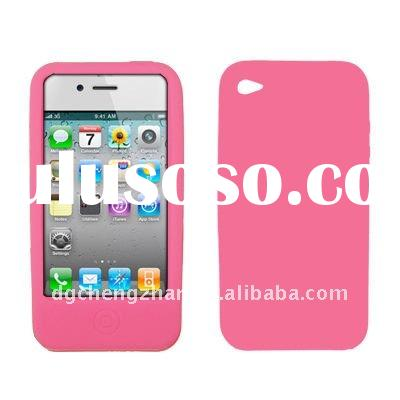 for Apple iPhone 4 Soft Silicone Gel Skin Case Pink