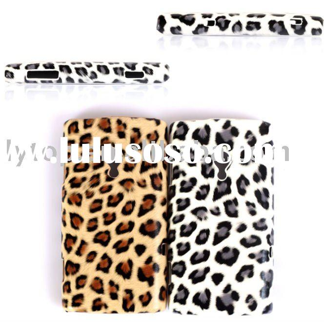 for Sony Ericsson Xperia X10 leopard leather Cases