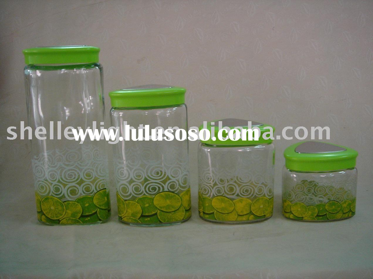 glass storage Jar/glass canister /glass container