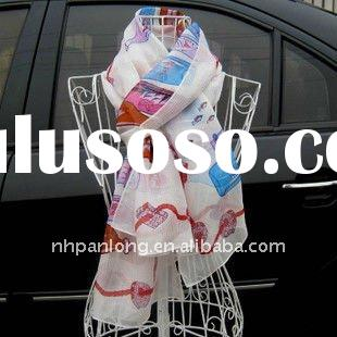 japanese digital printed 100% pure silk scarf /ladies'fashion scarves