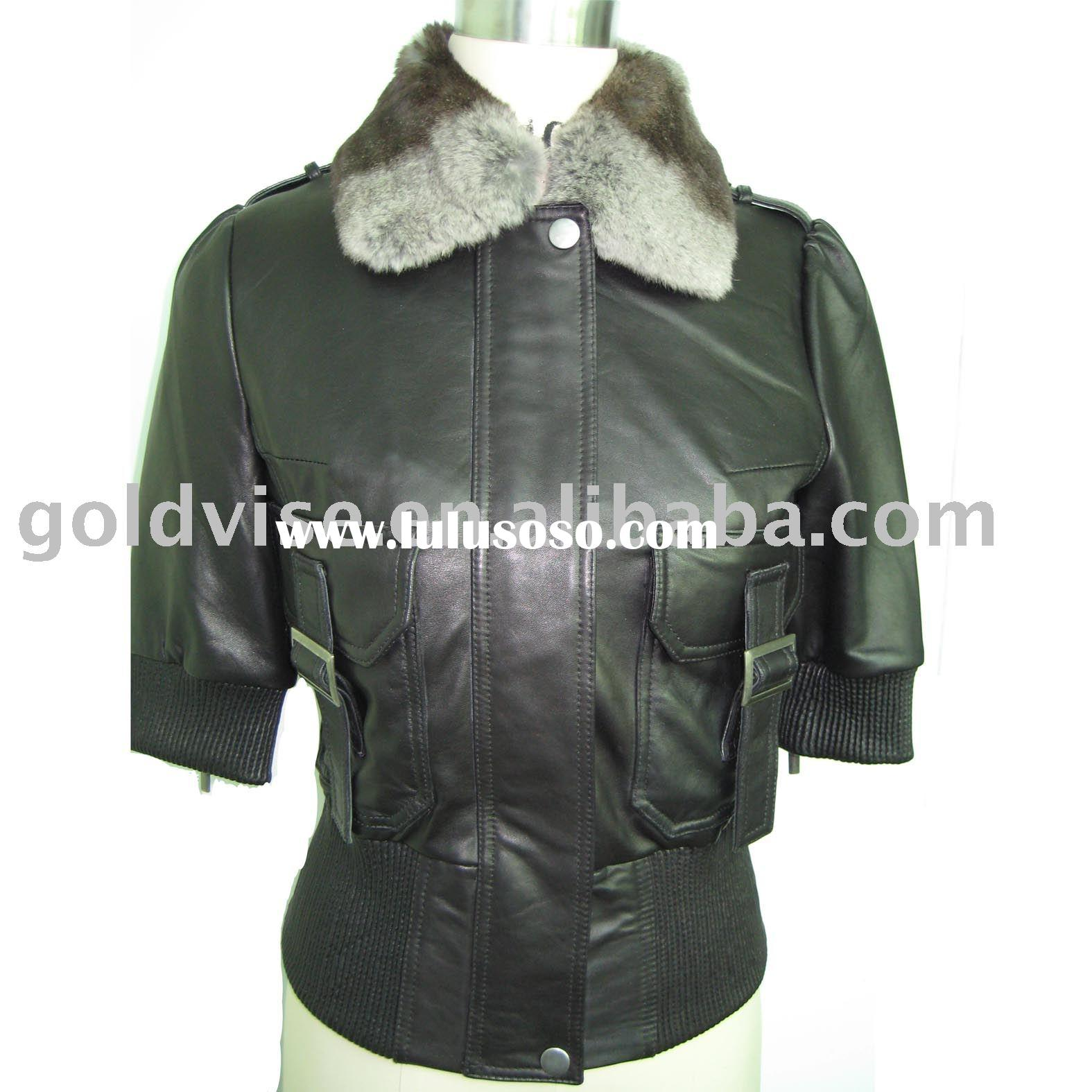 leather garment, lady's leather garment