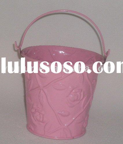 metal flower bucket,galvanized zinc pot,houseware,garden planter