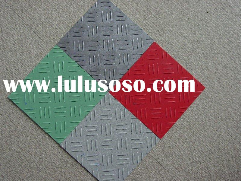 metallic tile and vinyl floor tile
