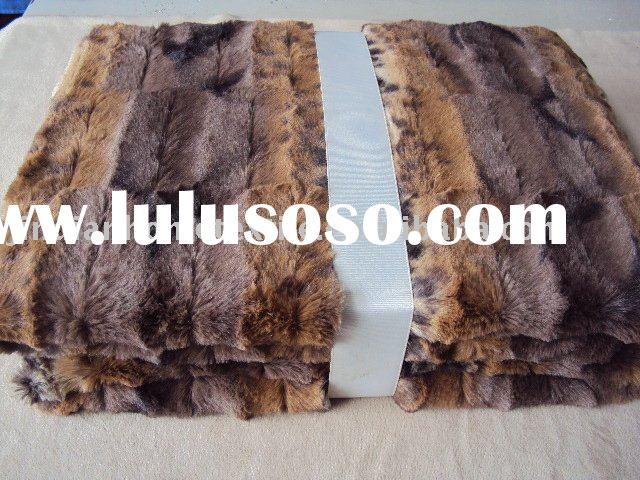 microfiber polyester printed faux fur blanket,luxurious and comfortable